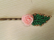 复古玫瑰串珠头饰发饰发卡边卡