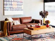 实木咖啡桌/茶几,天然实木,不锈钢支架,美观实用