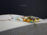 善术SANSHIO文艺范创意木吊坠与原创设计极简简约百搭项链毛衣链情侣项坠包邮