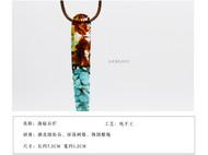 善术SANSHIO纯手工吊坠情侣款毛衣链长款简约造型绚丽色彩原创设计创意百搭项链包邮