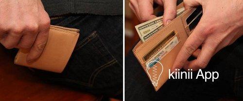 手工制作植鞣革短钱夹