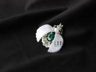 【LXB私人设计】法式刺绣 立体珠绣 昆虫胸针(绿色款) 定制非现货