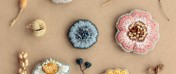 俄系风情的刺绣花朵配饰 | Yuliya Tarasenkova