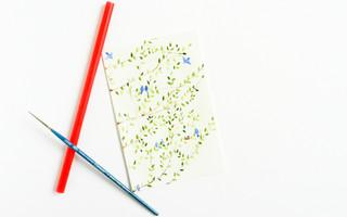 基础水彩入门教程 & 创意艺术绘画教程:使用吸管创作春意盎然的树和小鸟水彩教程