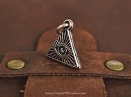 银拓丨独立原创手工银 全视之眼 徽章吊坠 99纯银设计