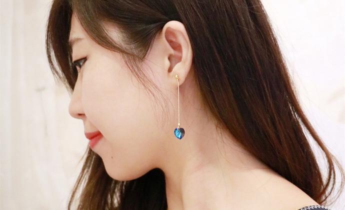 【海洋之心】楠楠小张漫生活原创设计简约耳环耳链女友饰品礼物