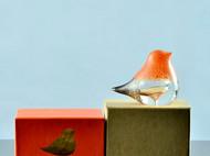 玻璃小鸟家居水晶摆件 琉璃鸟结婚礼品创意礼物动物装饰柜工艺品