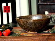 传统龙窑柴烧全手工粗陶原矿釉碗