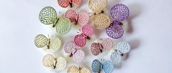 轻盈而立体的刺绣胸针,来自日本手工艺人 ice-cream headache