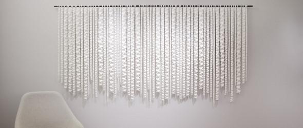 折出来的起伏山谷 | 美国艺术家 Zai Divecha 的工作室与纸艺作品