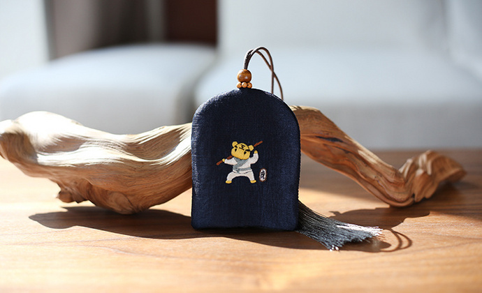花暖 原创设计 手工刺绣 十二生肖钥匙包民族风配饰中国风礼物 虎