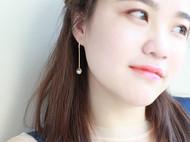 M.Q奎妮小姐 简约小行星天然珍珠925纯银耳钉/耳坠