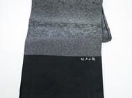 日本直邮 江户小纹染丝绸披肩 纯手工制作 有28种花纹 传统工匠师青木啓作作品 黑色款