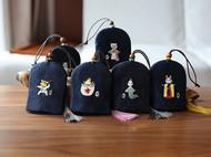 花暖 原创设计 手工刺绣 十二生肖钥匙包民族风配饰中国风礼物 蛇