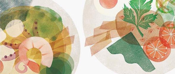 有趣的橡皮章插画,让复杂的艺术趣味化,让平凡的充满艺术性   Fatto Ameno