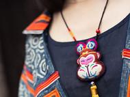 【大圣】项链原创纯手工刺绣毛衣链孙悟空猴生肖文艺复古