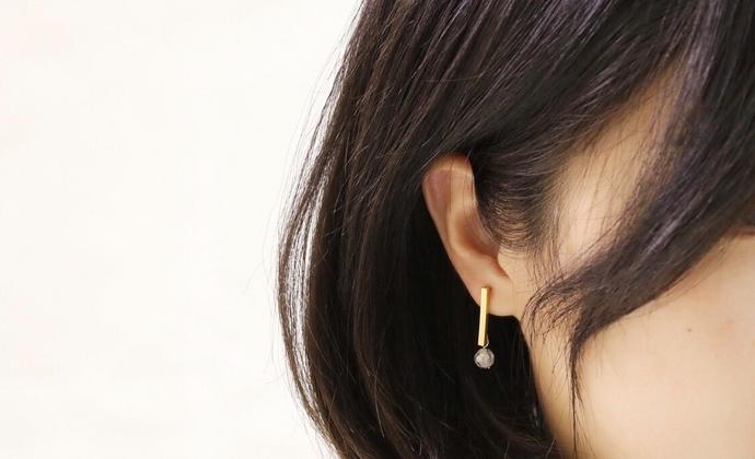 【几何元素】楠楠小张耳钉女个性韩式简约耳环耳坠耳饰镀金不过敏