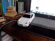 竹木,遥控,自制白色跑车