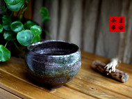 传统龙窑柴烧全手工抓痕纹抹茶碗