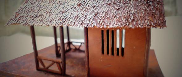 手工打造全牛皮茅草屋—《草堂》