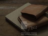 Typei Hang Purse No.1 原色枥木鞍革 做旧款短夹