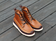 手工制作个性休闲白底船鞋