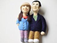 羊毛毡私人定制人像 卡通人像 生日礼物 婚庆礼物 摆件