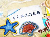 祖母秀堂『海洋系列』扇贝手工刺绣项链毛衣链棉麻配饰森女民族风