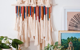 DIY编织流苏挂毯(墙挂)