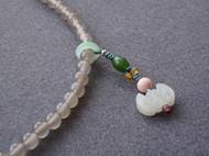 灰玛瑙念珠手串项链