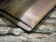 定制 手工皮具 皮雕皮刻 雪拉瑞竖款短夹 短款财布