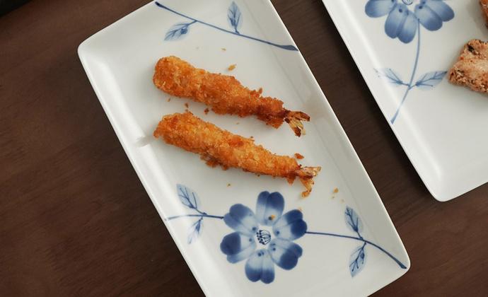 手工制作波佐见烧 滨陶 蓝铃花系列手绘餐具