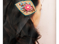 森林里的小花朵 森女绣原创手工边卡复古手工绣