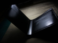 黑色马缰革短夹