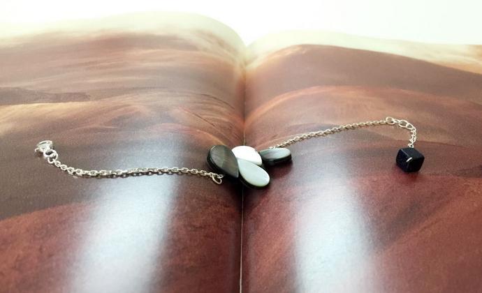 入口/ENTRANCE原创设计 天然黑蝶贝925银 个性独特 百搭 手工手链
