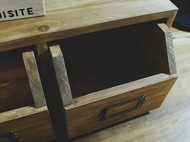 [森尼木工] 日式侘寂风收纳盒 桌面收纳盒