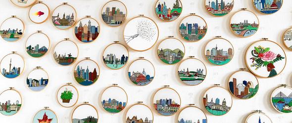 刺绣建筑 | Ksenia Guseva