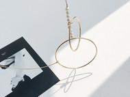 M.Q奎妮小姐 个性时髦大圈圈天然珍珠项链/长链