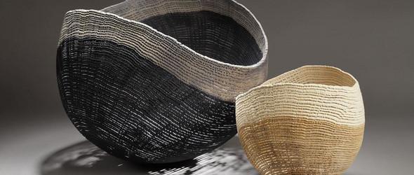 看起来像是编织物的木雕   Pascal Oudet