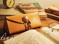ling原创纯手工眼镜盒子|墨镜|太阳镜|牛皮三棱柱|笔袋|文具盒