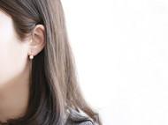 925纯银简约时尚百搭弯钩贝珠耳线 首饰银饰品耳环