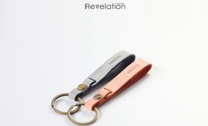 钥匙扣创意定制 logo刻字纯手工雾蜡植鞣革真皮纯铜钥匙圈情侣男女款