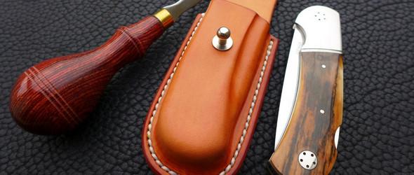 德国手工艺人&皮匠 Arno Buck 制作的刀套,定型和封边都非常美
