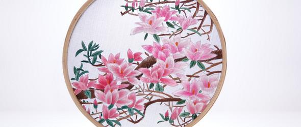集绘画与刺绣于一体的安绣   HoopArtStudio