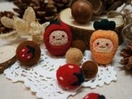 【草莓萌萌私物A款】 糯米糍原创设计 羊毛毡草莓萌物