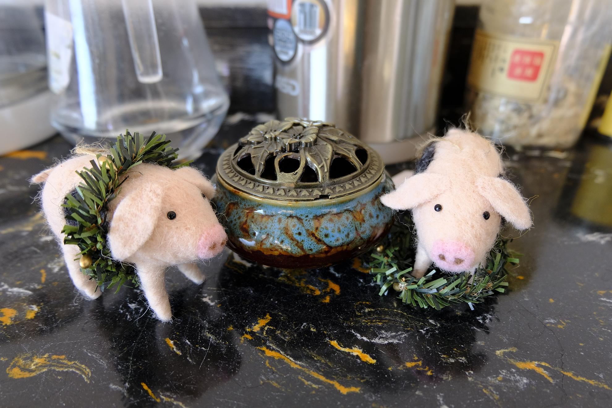 可爱的羊毛毡小猪,萌化了,你确定不养一窝吗