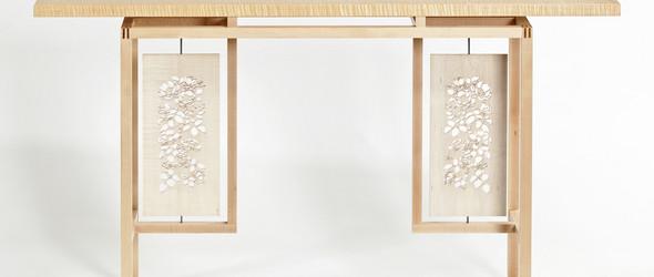 精美的雕刻与镶嵌美式实木家具 - 木匠 Brian Reid 手工打造的木制家具