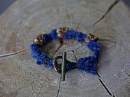 集点手作坊  手工编织 蓝染古布银饰 手链