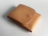 原创手工牛皮革原色植鞣革简约小巧大容量男女随身通勤零钱包名片卡包