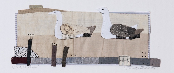 质朴中带着童趣的拼布艺术 | 英国纺织艺术家 Janet Bolton 的手缝作品
